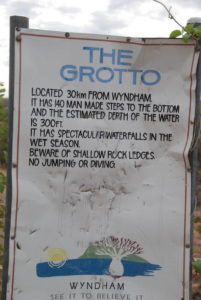 Information sign The Grotto