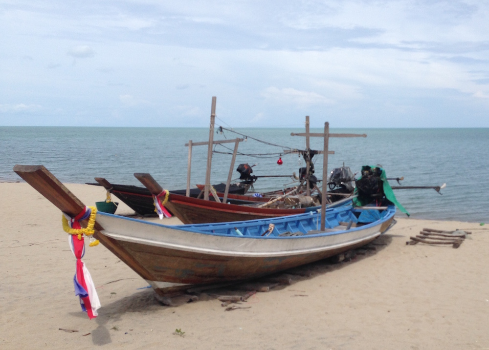 Fishing boat at Khanom.