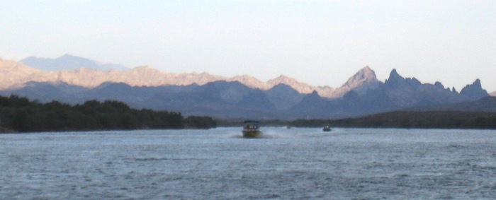 Colorado River and the Mohave Mountains