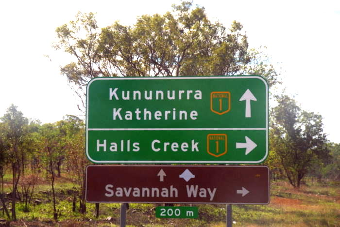Intersection of Great Northern Highway and Victoria Highway