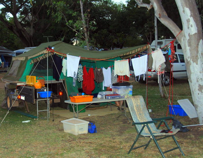 Our camp beside Lily Creek Lagoon in Lake Kununurra