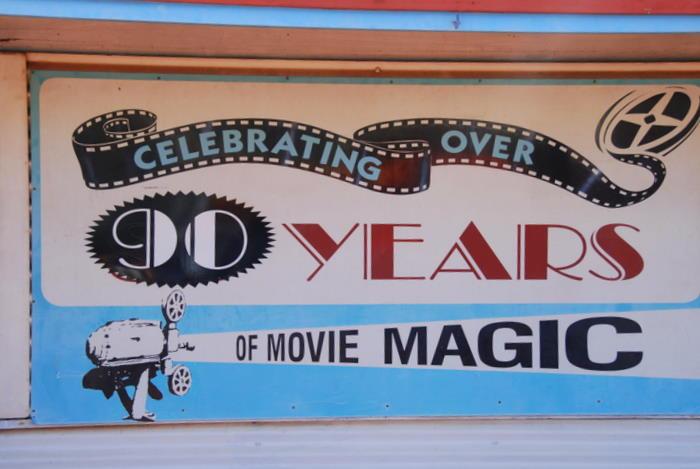 Broome has an outdoor cinema.
