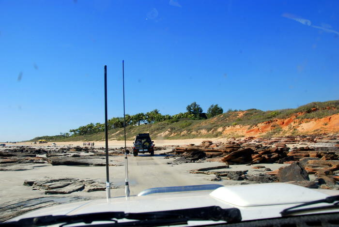 Driving onto Cable Beach.