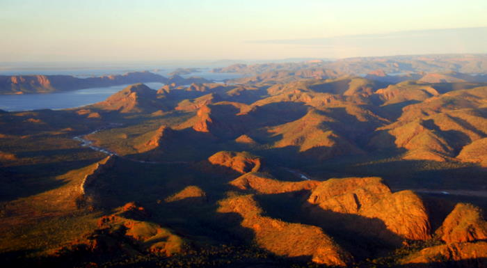 Approaching Lake Argyle.