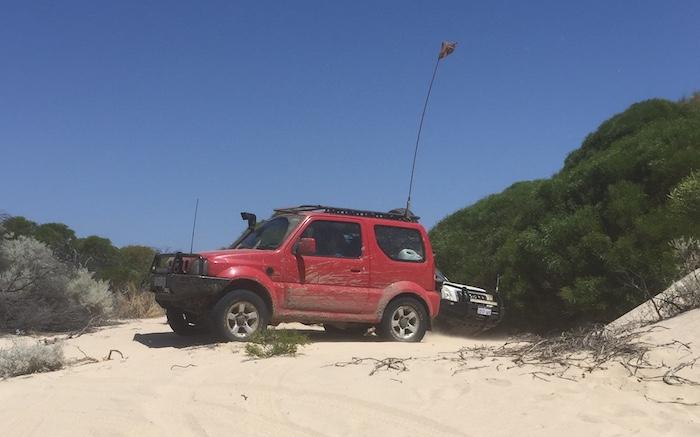 Adi at bottom of dune.