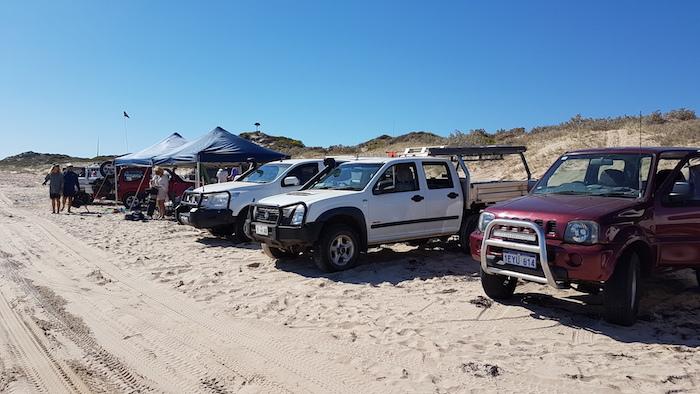 Our beach camp.
