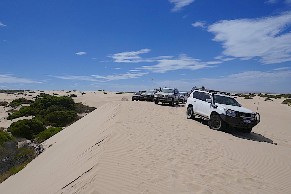 Top of the sand ridge.
