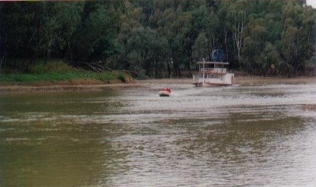 First boat into Echuca.