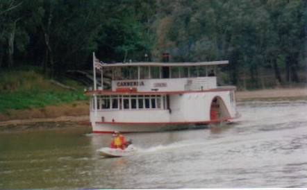 Second boat into Echuca.