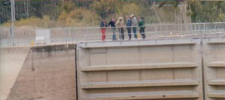Discussions on the best way to get around the weir.