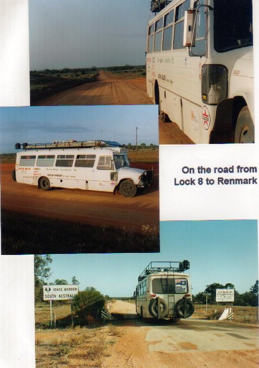 The Bus on the road to Renmark.