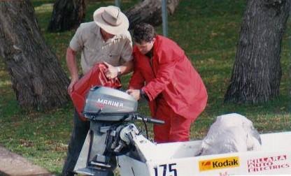 Kim and Tony refuelling.
