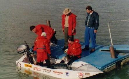 Tony refuelling a boat at Wellington.