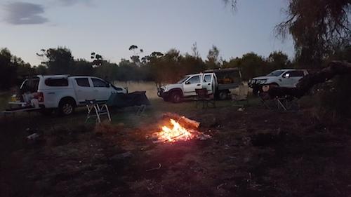 Campsite at Carberdine Pool.