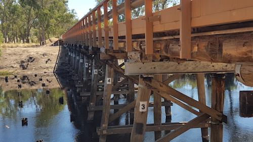 Bridge over Blackwood River at Jays.