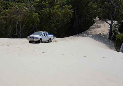Kerry takes his Navara up Yeagarup Dunes.