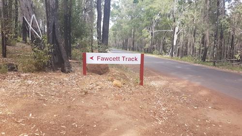 Start of the Fawcett Track.
