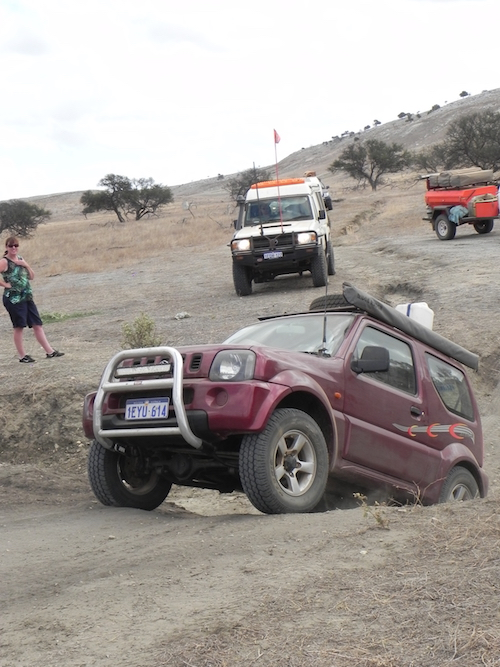 Adi takes his Jimny out of the gutter.
