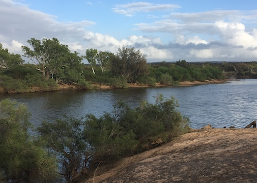 Wilgamia Pool on the Murchison River - our campsite for Saturday night