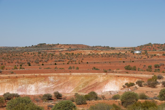 Open pit mine at Meekatharra.