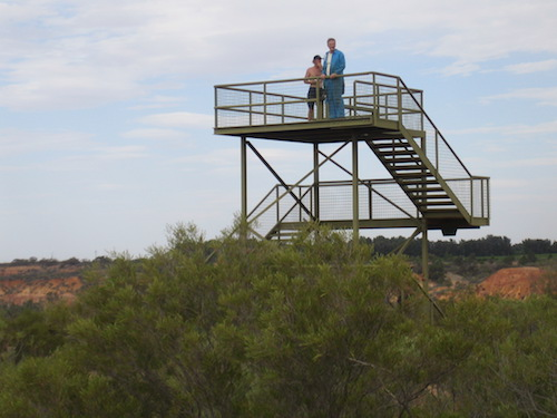 Gary and John on the lookout tower.