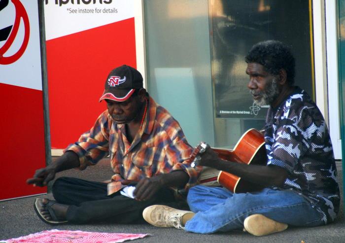 Buskers in Darwin.