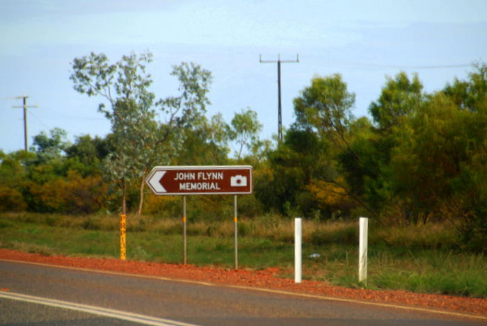 At the junction of the Stuart and Barkly Highways about twenty kilometres north of Tennant Creek.
