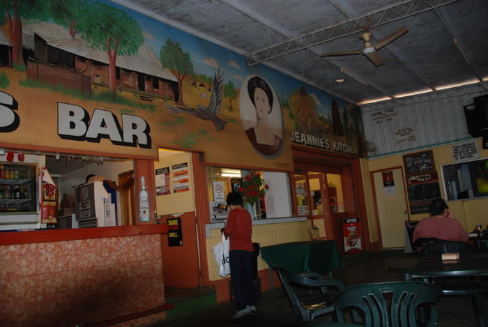Bar at Mataranka Caravan Park.
