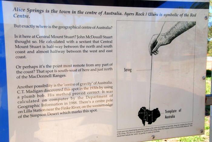 Centre of Australia
