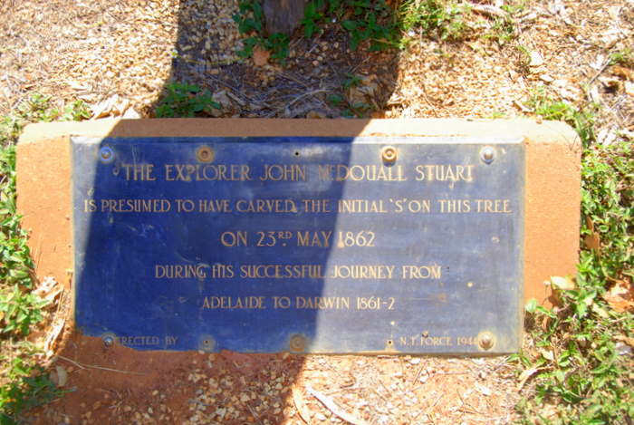 Plaque at Stuart Tree.