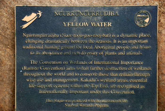 Yellow Water plaaque