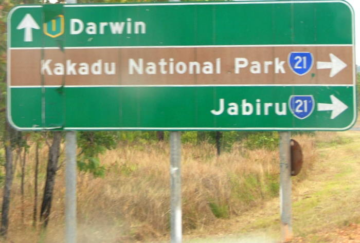 At the entrance to Kakadu.