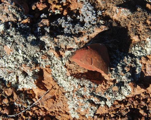 Grinding stone that has been broken.