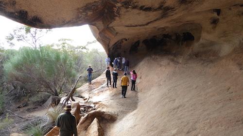 Kings Cave overhang.