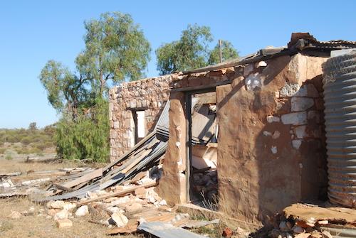 Ruins of Mount Jackson Homestead.