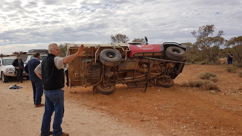 Scott ensured that the vehicle came back on its wheels gently.