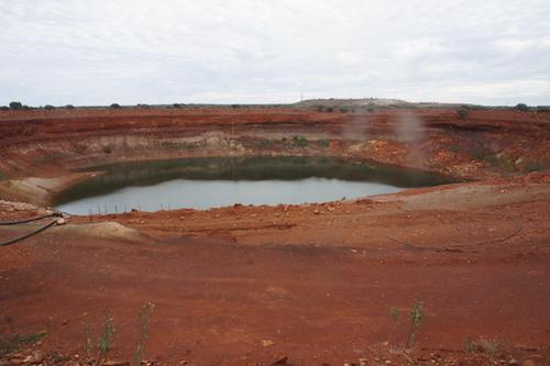 Water pit at Younami.