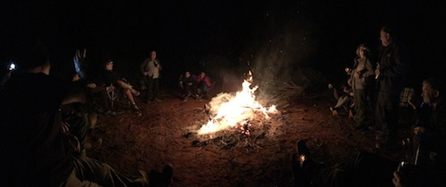 First night around the campfire.