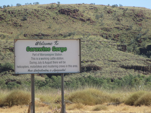 Entry to Carawine Gorge on Warrawagine Station.