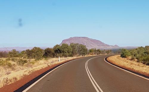 Mount Bruce, the second highest peak in Western Australia.