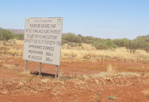 On the Ashburton Downs Road just after turning off the Nanutarra Wittenoom Road.
