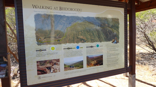 Beedoboodu information sign.