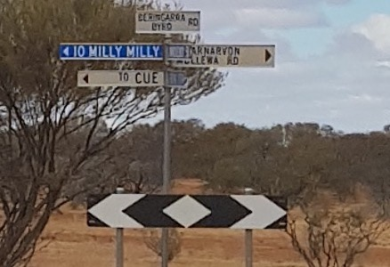 Intersection of Erong Rd and Beringarra-Byro Rd.