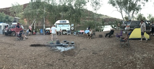 Our camp at Carawine Gorge.