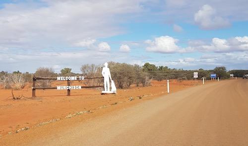Entering Murchison Settlement.