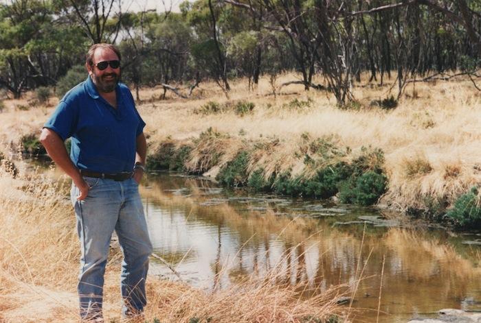 Ian Elliot at Totadgin Dam December 1995.
