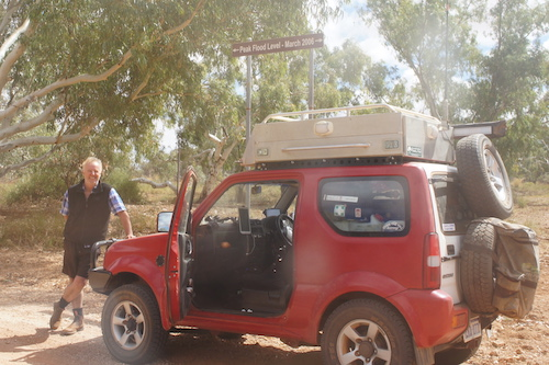 Scott with his Jimny at the Milly Milly crossing.