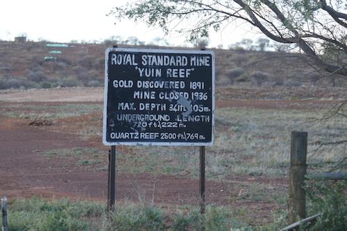 Royal Standard Mine on Yuin Station.