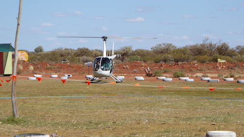 The helicopter was operating from the caravan park.