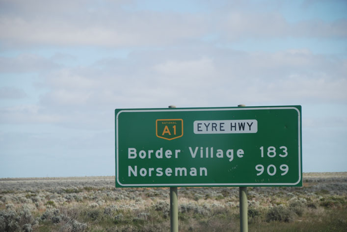 At the eastern edge of the Nullarbor National Park, South Australia.